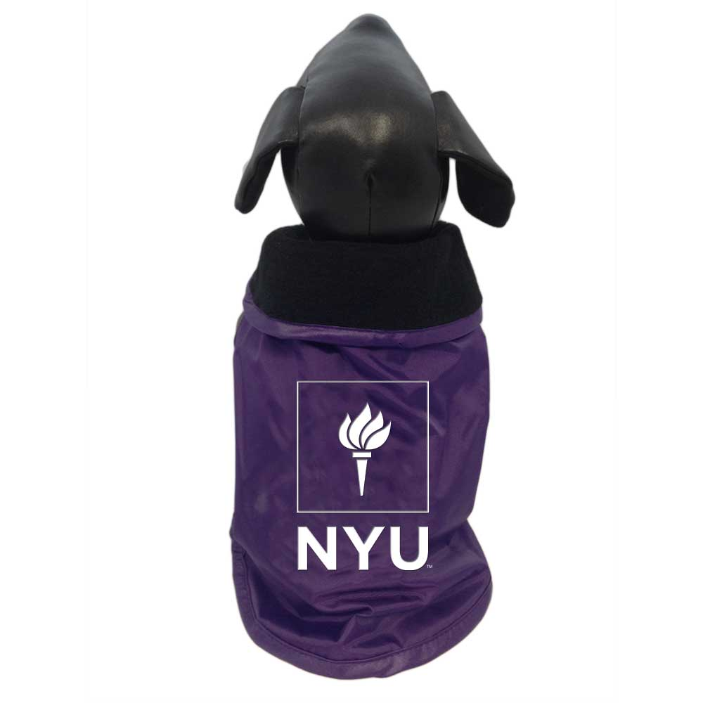 york university hoodie. new york university violets dog outerwear coat hoodie